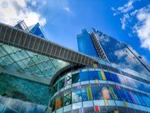 Vidro e azul Imagens de Stock
