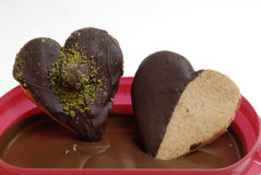 Vidro e chocolate Foto de Stock Royalty Free