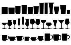 Vidro e copo Imagem de Stock Royalty Free