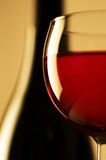 Vidro e frasco de vinho Foto de Stock Royalty Free