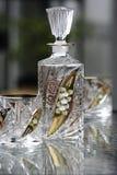 Vidro e frasco de vinho Fotografia de Stock