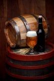 Vidro e garrafa da cerveja fresca Foto de Stock Royalty Free