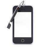Vidro e smartphone de Google Fotografia de Stock Royalty Free