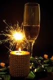 Vidro e sparcle de Champagne Fotos de Stock Royalty Free