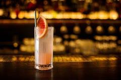 Vidro elegante do cocktail alcoólico do fruto fresco brilhante do agridoce imagem de stock