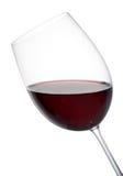 Vidro elegante inclinado do vinho tinto imagens de stock