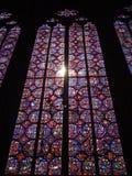 Vidro manchado de Sainte-Chapelle fotografia de stock royalty free