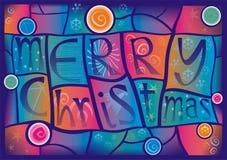 Vidro manchado do Natal ilustração do vetor