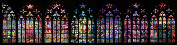 Vidro manchado do St Vitus Imagens de Stock Royalty Free