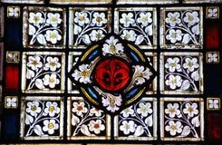 Vidro manchado floral Imagem de Stock