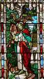 vidro manchado Jesus da igreja do 19o século Fotos de Stock Royalty Free