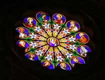 Vidro manchado na basílica de St. Peter, Vatican Imagens de Stock