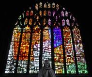 Vidro manchado na catedral de Manchester Fotografia de Stock