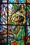 Vidro manchado - St. Cecilia fotografia de stock