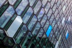 Vidro moderno do prédio de escritórios foto de stock royalty free