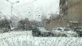 Vidro molhado da neve filme