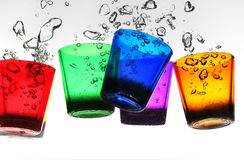 vidro na água Fotografia de Stock