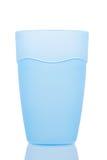 Vidro plástico azul fotografia de stock royalty free