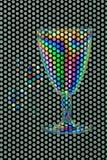 Vidro plástico e duas colheres Imagem de Stock Royalty Free