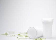 Vidro plástico Recyclable imagens de stock