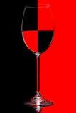 Vidro preto e vermelho Imagens de Stock Royalty Free
