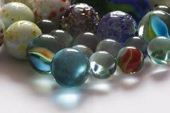 Vidro que joga mármores, cor diferente Imagem de Stock Royalty Free