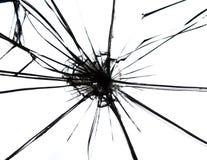Vidro quebrado Fotografia de Stock