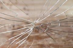 Vidro quebrado Fotografia de Stock Royalty Free