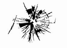Vidro quebrado Foto de Stock