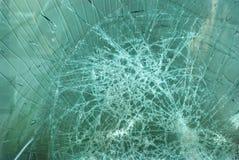 Vidro quebrado após o impacto pesado Foto de Stock