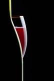 Vidro quebrado da bebida do vinho, barra, alcoolismo, ainda-vida, comemorativo, restaurante, Foto de Stock