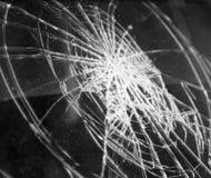Vidro quebrado no carro Foto de Stock Royalty Free