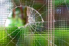 Vidro reforçado quebrado Imagem de Stock