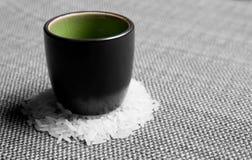 Vidro sobre o arroz da grão Fotografia de Stock Royalty Free