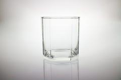 Vidro vazio de cristal ao uísque Fotografia de Stock Royalty Free
