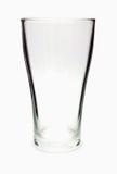 Vidro vazio isolado em um branco Fotos de Stock Royalty Free