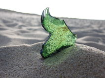 Vidro verde Imagem de Stock