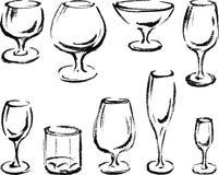Vidros ilustração royalty free