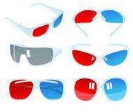 vidros 3D Foto de Stock Royalty Free