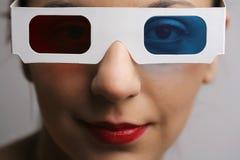 vidros 3D Imagens de Stock