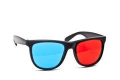 vidros 3D no fundo branco Imagens de Stock