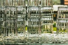 Vidros bebendo Fotografia de Stock