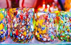 Vidros bebendo de Murano foto de stock