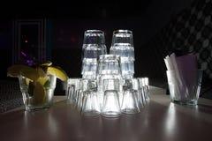 Vidros bebendo vazios Foto de Stock Royalty Free