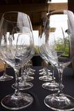 Vidros bonitos em seguido Foto de Stock