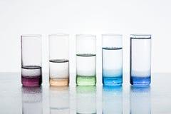 Vidros com água Fotos de Stock Royalty Free