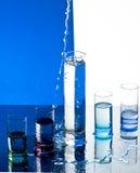 Vidros com água Imagens de Stock