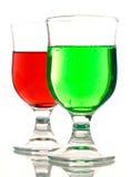 Vidros com bebidas Imagem de Stock Royalty Free
