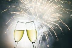 Vidros com champanhe Fotografia de Stock