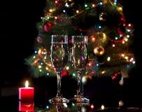 Vidros com champanhe Foto de Stock Royalty Free